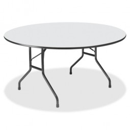 "Iceberg Premium Round Folding Table, Wood, 60"" - Various Colors"