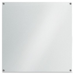 """Lorell Glass Dry-Erase Board, 42"""" x 42"""", Frost"""