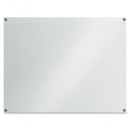 """Lorell Glass Dry-Erase Board, 48"""" x 36"""", Frost"""