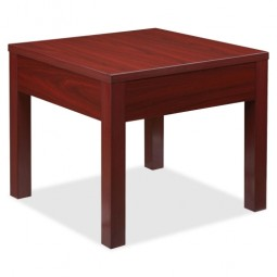 "Lorell Corner Table, 24"" x 24"" x 20"", Mahogany"