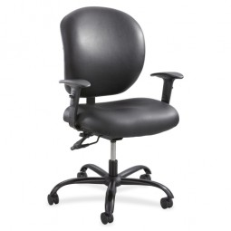 "Safco 24/7 Task Chair, 26"" x 26"" x 25½"", Vinyl/Black"