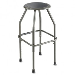 "Safco Fixed Height Stool, 17½"" x 17½"" x 29½"", Pewter"