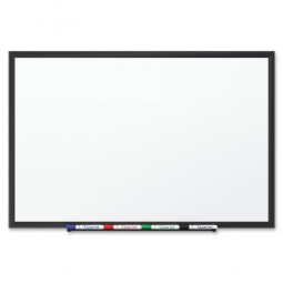 Quartet Porcelain WhiteBoard, 3' x 2', Black Aluminum Frame