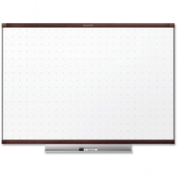 Quartet Dry-Erase WhiteBoard, with Marker, Tray, 6' x 4', Mahogany Frame