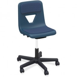 Navy Padded Task Chair with Star Base