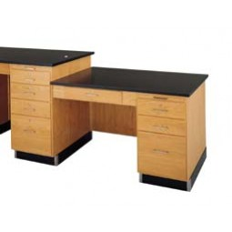 Instructor's Desk Attachment for 5' and 8' Instructor Desks - 2 Top Types