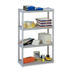 Iceberg 4-Shelf Open Storage System, Platinum