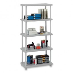 Iceberg 5-Shelf Open Storage System, Charcoal Gray
