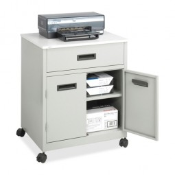 """Safco Machine Stand, with Drawer, Steel, Mobile, 25"""" x 20"""" x 29¾"""", Gray"""