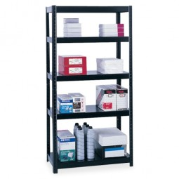"Safco Steel Shelving 36"" x 18"" x 72"" or 73"" x 18"" x 36"", Black"