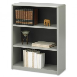 "Safco 3 Shelf Bookcase, 31¾"" x 13½"" x 41"", Gray"