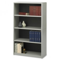 "Safco 4 Shelf Bookcase, 31¾"" x 13½"" x 54"", Gray"