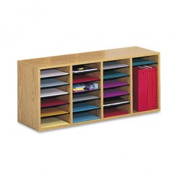 "Safco Adjustable Organizer, 39¼"" x 11¾"" x 16⅜"", 24 Compartment - Various Colors"