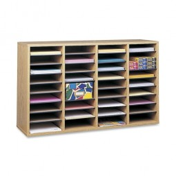 """Safco Adjustable Organizer, 39¼"""" x 11¾"""" x 24"""", 36 Compartment - Various Colors"""