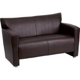 Signature Majesty Series Brown Leather Love Seat