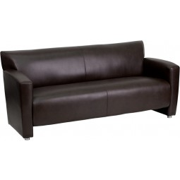 Signature Majesty Series Brown Leather Sofa