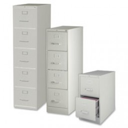 Lorell Vertical Files, Legal - 2, 4, or 5-Drawers and 3 Color Options
