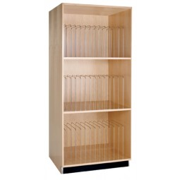 UV Finish Solid Maple Tall Storage Cabinet - Portfolio