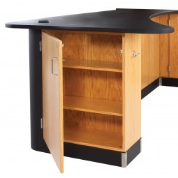 "UV Clear Finish Solid Oak Workstation, Sink, Epoxy Resin Top, 96""W - 2 Configurations"