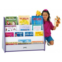 Jonti-Craft Rainbow Accents Double Sided Pick-a-Book Stand - Multiple Edge Colors