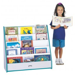 Jonti-Craft Rainbow Accents Flushback Pick-a-Book Stand - Multiple Edge Colors