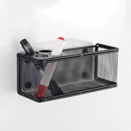 Safco Magnetic Marker Organizer with Basket - Onyx Mesh - 3612BL