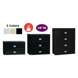 """Phoenix Lateral Fire File, 38"""" wide with key lock - Choose Size and Color"""