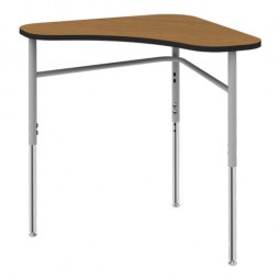 "Artcobell Uniflex 7SD3 Tri-Top Student Desk 28"" x 28"" - Laminate and Solid Plastic Tops"