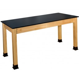 """BS-PH Series 30""""x60"""" Chemical Resistant Solid Phenolic Top Science Table"""