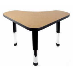 """Allied Plastics DLCC2436 Delta Series 1⅛"""" Thick Particleboard Work Surface Student Desk with T-Mold Edge"""