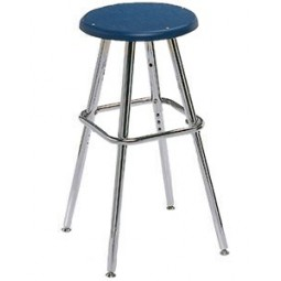 "Artcobell 0801 08 Series Adjustable Height Art/Lab Stool with Poly Top 19"" - 27½"" Height"