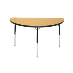 """Artcobell 1285R Uniflex 1200 Series Activity Table with T-Mold Edge 48"""" Half-Round"""