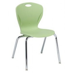 "18""H A+ Shell - Artcobell D10X Discover D100 Series Four Leg Stacking Chair"