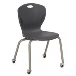 """18""""H A+ Shell - Artcobell D16X Discover D100 Series Four Leg Stacking Chair with Casters"""