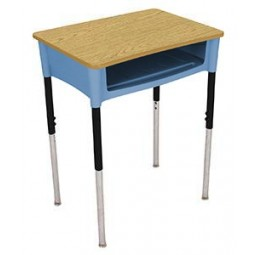 "Artcobell DA0D Open Front Desk 18"" x 24"" - Laminate or Solid Plastic Tops - Several Colors Available"