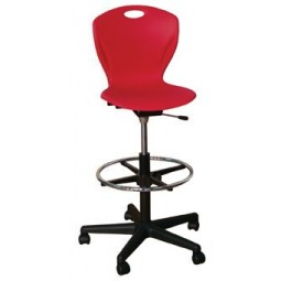 "Artcobell DL9A Discover D-Series Gas-Lift Swivel Stool 24"" - 34"" Seat Height A Shell"