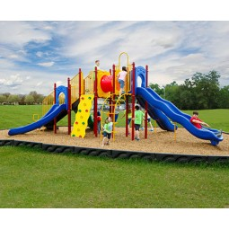 UPlayToday UPLAY-079-P Boulder Point Play Structure for Ages 5-12 in Playful Colors