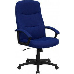 High Back Fabric Executive Swivel Office Chair - 3 Seat Options