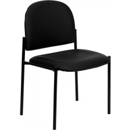 Comfortable Stackable Steel Side Chair - 5 Seat Options