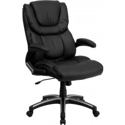 High Back Black Leather Executive Office Chair