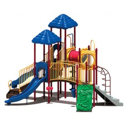 UPlayToday UPLAY-016-P Clingman's Dome Play Structure for Ages 5-12 in Playful Colors
