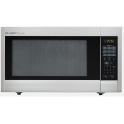 Sharp - 2.2 Cu. Ft. Full-Size Microwave - Stainless Steel