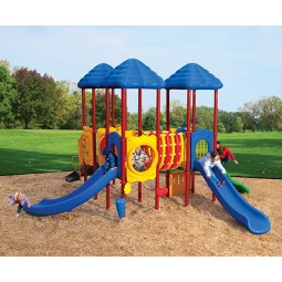 UPlayToday UPLAY-007-P Cumberland Gap Play Structure for Ages 2-5 or 5-12 in Playful Colors