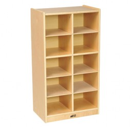 Unit Only - Birch 10 Cubby Tray Cabinet - ECR4KIDS - ELR-17215