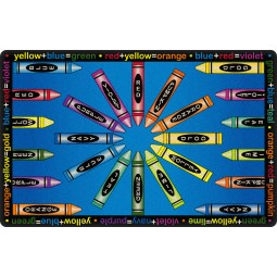 All Mixed Up in Indigo Educational Rug