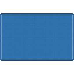 All-Over Weave in Blue Educational Rug