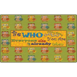 Be Whoooo You Are Educational Rug
