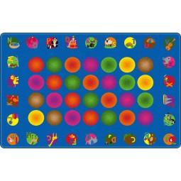 Circle Time Learning Educational Rug