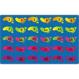 Counting Feet Educational Rug