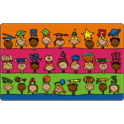 Fun at School Educational Rug